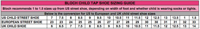 Bloch Dance Shoes Sizing Chart - Style Guru: Fashion ...